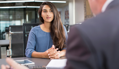 Preparing to answer behavioral questions during an interview